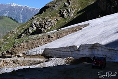Fallen Glacier on the way to Saif ul Malook (Syed Ramish) Tags: road pakistan terrain mountains ice make way for jeeps cut glacier valley fallen hassan rough syed rugged ul saif naran malook maluk ramish
