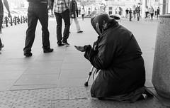 Homeless, Warsaw, Poland (spchampion) Tags: poland warsaw masovianvoivodeship blackandwhite homeless poverty sidewalk street woman