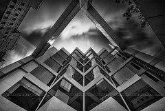Jagged Edges (rh89) Tags: windows light blackandwhite bw cloud white abstract black detail reflection art window monochrome 30 architecture clouds reflections mall movement nikon singapore soft long exposure day angle time 10 centre details 14 fine wide stack architectural reflect stop filter 09 lee nd daytime 28 nikkor filters grad ultra hitech stacked funan graduated density neutral d600 150mm 14mm gnd digitalife 1424 blackwhitephotos 1424mm prostop sw150 irnd
