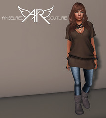 !!NEW!! AngelRED Couture - Mesh Tori Blouse (AngelRED Couture) Tags: world life fashion shirt skinny 3d clothing lab mesh top heather avatar linden blouse jeans gaming secondlife virtual boutique labs second couture lexi crawford mmorpg mmo skinnies 2013 hiner zelin angelred