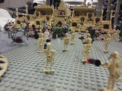 Canberra Brick Expo - Star Wars Geonosis scene (Bricktease) Tags: star lego scene exhibition legos canberra 100 wars hoth moc ucs sandcrawler geonosis brickexpo bricktease