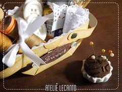 Cestinha de papel (Ateli Lecanto) Tags: scrapbook sewing costura cestinha