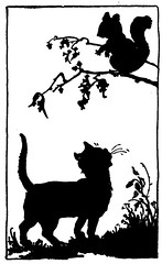 All I ever get here is milk..... (katinthecupboard) Tags: 1920s cat silhouettes johnmartin vintagechildrensmagazine mhartwell vintagechildrensperiodical