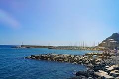 Pure enjoyment! (itsmegiuliah) Tags: blue sea summer sky water rocks mare estate blu cielo rocce acqua