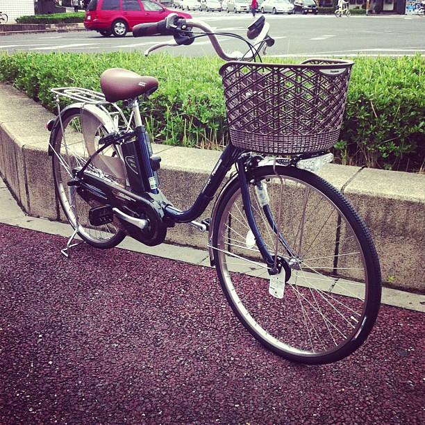 Panasonic電動アシスト自転車が入荷してます!しかも限定色のインディゴブルー! #eirin #Panasonic #電動アシスト自転車