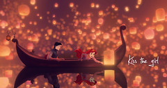 The Little Mermaid | Tangled (chris.alcoran) Tags: world light sea love ariel girl see kiss eric princess little disneyland under floating prince disney eugene part your lanterns lantern mermaid rider rapunzel princesses edit flynn tangled fitzherbert