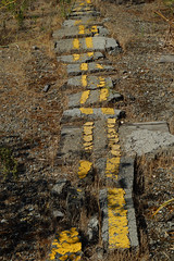 Expect Delays (Johnny Grim) Tags: road street broken concrete asphalt cracked yellowline doubleyellowline