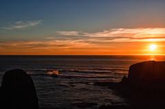 Sunset on the waves (kightp) Tags: autumn sunset lighthouse nikon pacificocean newport yaquinaheadlighthouse photowalks 2013 d7000 scottkelbyworldwidephotowalk