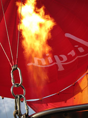 UP (littlestschnauzer) Tags: above birthday york city travel red orange hot up canon fire fly flying october skies lift air flames balloon flight over silk virgin burning flame elements present historical burner surrounds burners gaseous upwards 2013