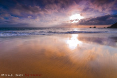 Shiny Beach (Michael Bandy) Tags: ocean california seascape beach clouds landscape coast pacificocean socal coastline southerncalifornia orangecounty 1020mm californiacoast oceansunset crashingwaves 10mm cloudysunset coastalrocks