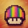 Rainbow Mushroom (Robozippy) Tags: mushroom beads rainbow nintendo sprite mario pride videogames pixelart perler perlerbeads geekcraft flickrandroidapp:filter=none geekcrafting