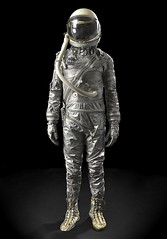 Whoa, I just won a Mercury space suit, the iconic silver wardrobe of our dreams and the first American astronauts. (jurvetson) Tags: 2 silver mercury space collection suit phase wsj comment72157643682121583photos