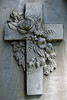 Flower-Wreathed Cross (Bigadore) Tags: whitebronze whitebronzegravemarker zincmonument