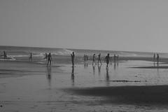 Una marea baja cualquiera en playa de Maspalomas en BN