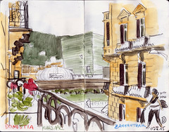 150509 Kursaal Donostia (Vincent Desplanche) Tags: watercolor sketch aquarelle sketchbook sansebastian euskalherria donostia neocolor croquis paysbasque