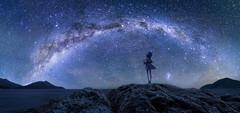 Starlight Nocturne (Ateens Chen) Tags: longexposure newzealand portrait people panorama lightpainting night landscape nikon auckland northisland crux ateens milkyway perspectivecontrol d810 starrysky hyperfocaldistance pcenikkor24mmf35ded