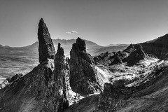 The Old Man of Storr, Isle of Skye (beth ashley alexander) Tags: blackandwhite mountains canon landscape scotland isleofskye dramatic hdr oldmanofstorr storr 50d bethalexander