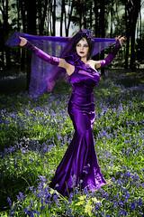Dance with the Bluebells (Azadeh Brown) Tags: bluebells woods purple vampire goth vogue femmefatale bluebell darkphotography darkart vampiric bluebellwoods wgw womaninpurple newromantic gothbride gothwedding darkbeauty darkfairytale gothveil persianprincess purplewedding purpleveil micheldeverforest persianqueen purpleheaddress purplebride persianvampire wgwapril2015