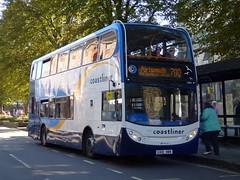 Stagecoach South 15603 (GX10 HBN) Chichester 11/10/16 (jmupton2000) Tags: gx10hbn scania coastliner 700 alexander dennis enviro 400 stagecoach south uk bus southdown coastline sussex