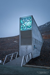 Entrance to Svalbard Global Seed Vault (The Autodidact Photographer) Tags: 5dmk2 arctic arktis autumn canon canonef24105mmf4lisusm continent dslr eos5dmkii europa europe europedunord fall foto fotografering kamera kontinent lens norden nordeuropa nordiccountries norge northerneurope noruega norway norwegen objektiv october oktober paysnordiques photo photography scandinavia scandinavie season skandinavia skandinavien spitsbergen spitzbeergen spitzbergen svalbard tid time rstid svalbardglobalseedvault misty