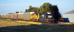 What the Wind Blew In (Defective Defects) Tags: railroad railway loco locomotive train ns norfolksouthern up unionpacific sd70 sd70m blockil emd autoracks