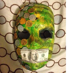 Seven Deadly Sins: Greed (Gemini Designs) Tags: criminal stripes sevendeadlysins silver greed money green gold mask art