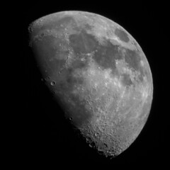 Waxing Gibbous 66% (Latitude53 Photography) Tags: moon lunar waxinggibbous crater