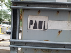 Paul (Exile on Ontario St) Tags: sticker paul montreal usps label228 graffiti stencil priority mail label courrier postal service montral collant autocollant collants autocollants stickers letters lettrage calligraphy lettres