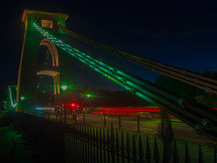 The Green Bridge (RS400) Tags: clifton suspension bridge bristol green transport road cool wow amazing wicked night long exposure buildings south west cars