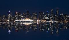 Vancouver reflected. (Zorro1968) Tags: vancouver reflection night explorebc explorecanada skyline city cityofvancouver portofvancouver waterfront