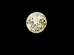The Moon Is? (Steve Taylor (Photography)) Tags: rubberband moon ball elasticband art abstract digital black contrast stark rubber circle round night full