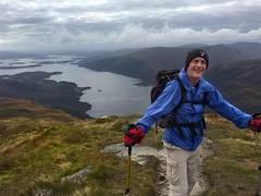 Thom pauses near the summit (barronr) Tags: scotland lochlomondthetrossachsnationalpark benlomond theptarmigan loch lomond