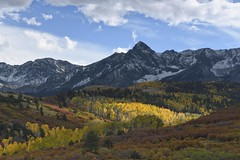 Evening in the San Juan Mountains, Colorado (jkrieger84) Tags: nikon d500 blue sky aspens yellow fall clouds mountains san juan colorado landscape nature
