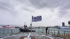 Greek flag (vasiliki2009) Tags: flag outdoor sea ship greece hellas