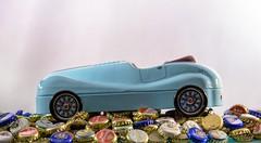 The blue sheet metal car (Gnter Hentschel) Tags: blechauto sheetcar thebluesheetmetalcar blau modellauto modellcar fotomodell kronkorken bierstpsel bierdeckel verrckt verrcktebilder versuche versuch dieanderenbilder deutschland germany germania alemania allemagne europa nrw nikon nikond5500 d5500 hentschel gnter flickr indoor hobby freunde freizeit