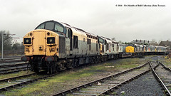 10/12/2000 - Springs Branch, Wigan. (53A Models) Tags: ews class37 37010 class47 diesel springsbranch wigan sp tmd west yorkshire train railway locomotive railroad