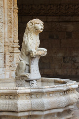 Curious lion in Lisbon (Oleg S .) Tags: lisbon portugal travel architecture fountain monastery sculpture water