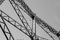 Catched! (robyf80) Tags: airplane gasometro roma rome sky cielo