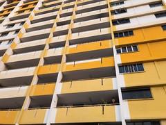 Yellow (Jerry (jerrywongjh)) Tags: singapore rochor rochorcentre hdb flat housing publichousing housingdevelopmentboard flats colour colourful yellow iphone7 shotoniphone7 shotoniphone raw iphone