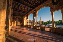 Plaza de Espana (Chiara Salvadori) Tags: artdeco neomudjar parquedemarialuisa plazadeespana renaissancerevival travelphotography andalusia architecture building city culture europe naboo outdoors premiun sevilla seville siviglia spain spring sun sundown sunset town travel traveling urban