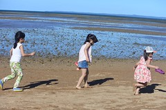 (Kirsten Cowan) Tags: kids nature australia ocean sea waves sandbank