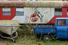 1. FC Kln Aufstieg 2014 (G_Albrecht) Tags: ship 1fckln bahn ballsport boot fussball marode motorboot personenwagon schiff sport verkehr vermerk wagon zustand