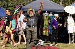Campbell the Swagman, busker, poet, storyteller, and national treasure. (Cairns_Au) Tags: campbelltheswagman buskers swagman australianculture poet yungaburramarket queensland