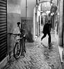 Tanger street photografy (JESUSGX8) Tags: tangerstreetphotografymomentodecisivo tangier morroco marruecos lluvia noche gente de wnb sombrero gorro silueta