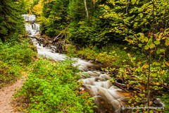 Au Sable Falls Painted Rocks National Lakeshore (Thomas DeHoff) Tags: waterfall silky water upper michigan painted rocks national lakeshore sony a700 autumn colors