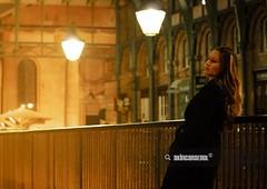 Girl in Covent Garden (akincansenol) Tags: 500px architecture beautiful beauty black city england fashion girl green light lights lines london market model night portrait street uk warm white yellow