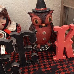 Ruth in CA - Photo - Johanna Parker Owl Halloween (Johanna Parker Design) Tags: johannaparker halloween giveaway raffle owl candycontainer