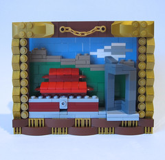 Framed Beijing (JETfri) Tags: lego microscale beijing greatwall tiananmensquare cctvheadquarters ffol