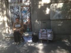 Слепая бездомная (GrusiaKot) Tags: ucraina ukraine україна украина travelling autumn girl woman blind homelss beggar waiting odessa