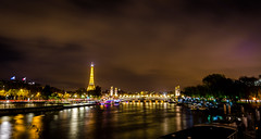Les quais de Seine (M'sieur Sub !) Tags: paris seine quais tour effeil exposure nuit